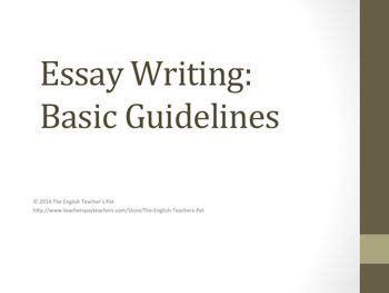 Good intros to essays